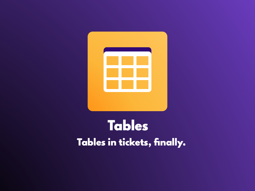 Watch the Tables app video